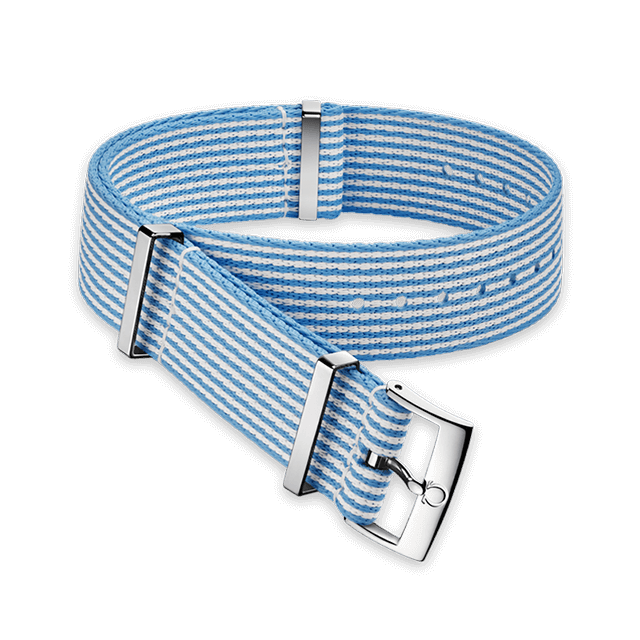 Polyamide striped blue and white strap - 031CWZ010682
