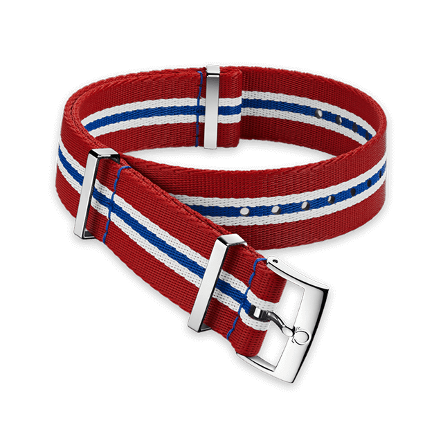 Polyamide 5‑stripe red, white and blue strap - 031CWZ010686