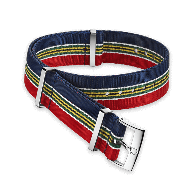 Polyamide striped multi‑coloured strap - 031CWZ010690