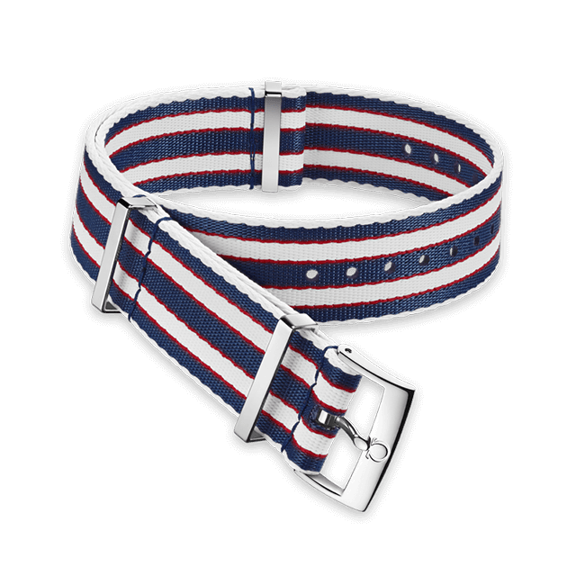 Polyamide striped blue, red and white strap - 031CWZ010696