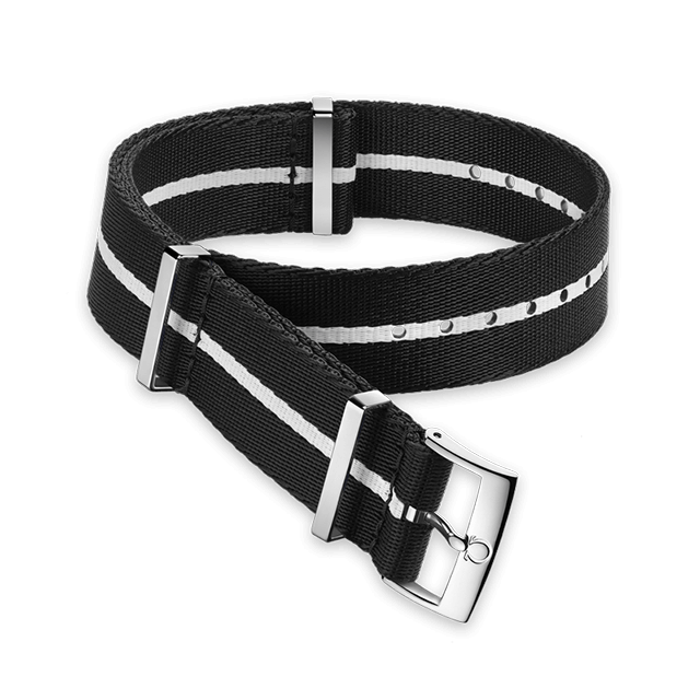 Polyamide black strap with white stripe - 031CWZ010700