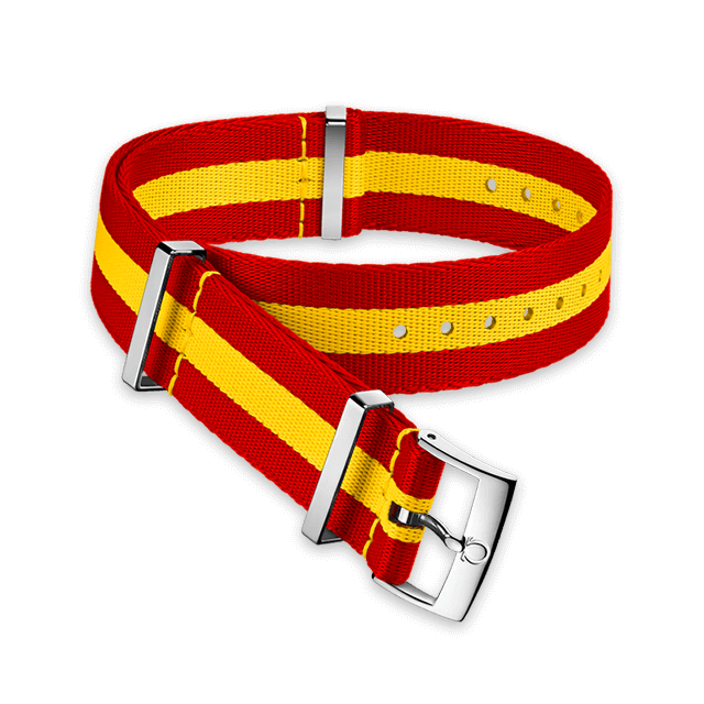 Polyamide 3‑stripe red and yellow strap - 031CWZ013390