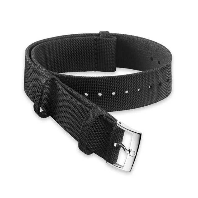 Black coated nylon fabric strap - 031ZSZ002056