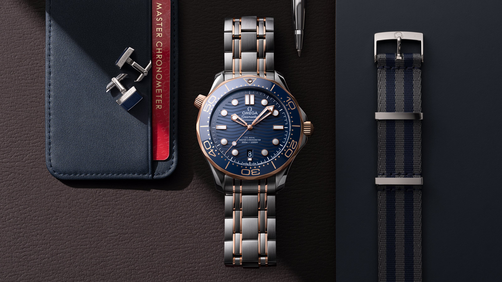 Seamaster Diver 300 M Diver 300M Omega Co‑Axial Master Chronometer 42 mm Relógio - 210.20.42.20.03.002