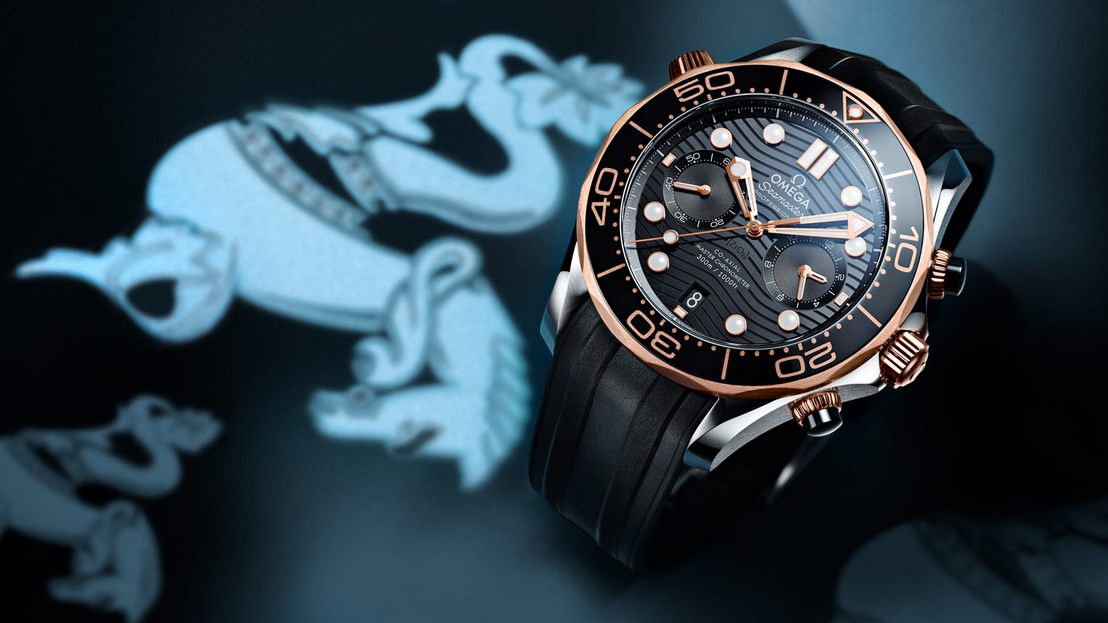 Seamaster Diver 300 M Diver 300M Chronographe Omega Co‑Axial Master Chronometer 44 mm - 210.22.44.51.01.001 - Afficher 1