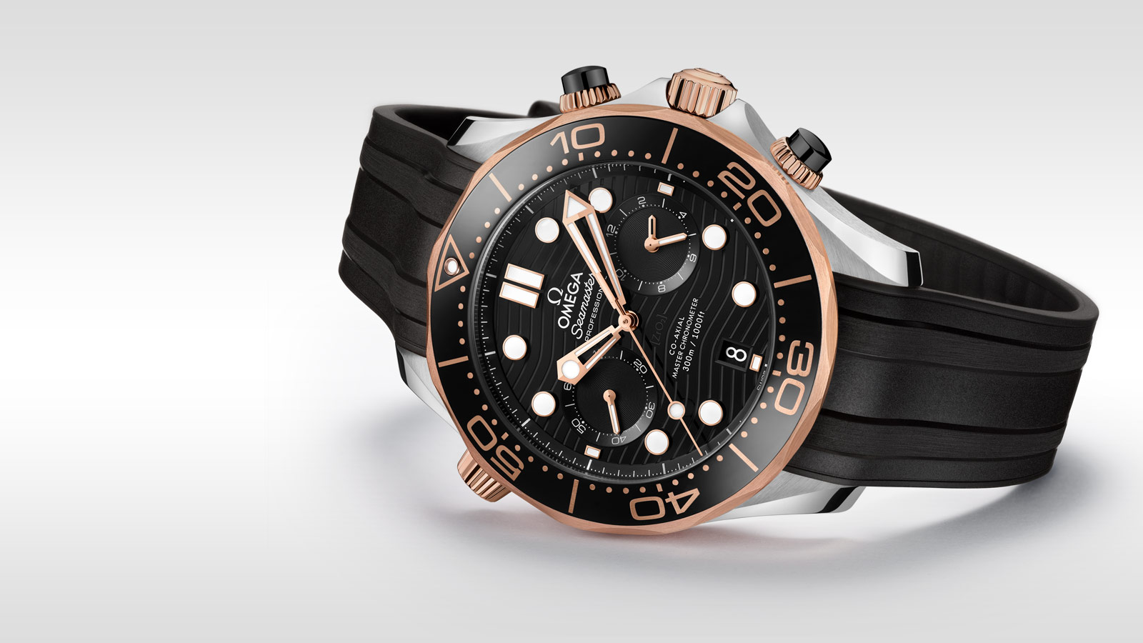 Seamaster Diver 300 M Diver 300M Chronographe Omega Co‑Axial Master Chronometer 44 mm - 210.22.44.51.01.001 - Afficher 2