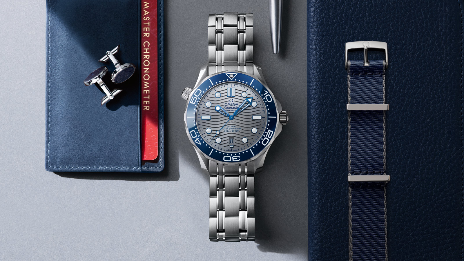 Seamaster Diver 300 M Diver 300M Omega Co‑Axial Master Chronometer 42 mm Relógio - 210.30.42.20.06.001