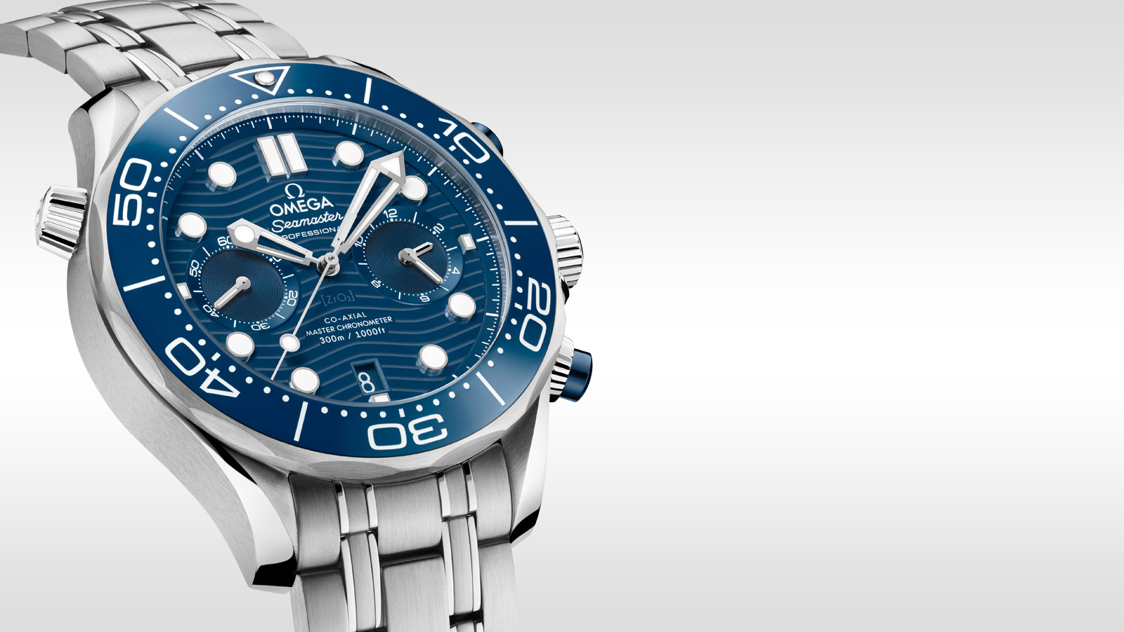 Seamaster Diver 300 M Diver 300M Omega Co‑Axial Master Chronometer Chronograph 44 mm - 210.30.44.51.03.001 - View 1