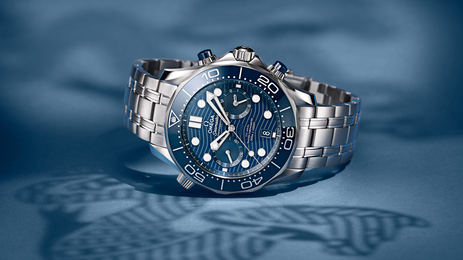 Seamaster Diver 300 M Diver 300M Omega Co‑Axial Master Chronometer Chronograph 44 mm Watch - 210.30.44.51.03.001