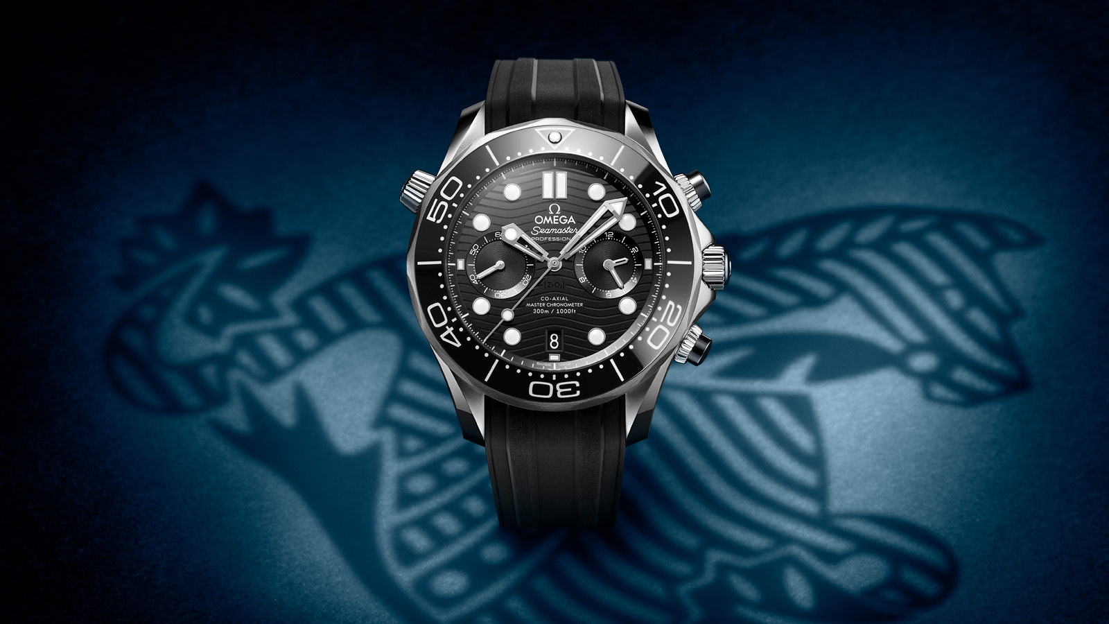 Seamaster Diver 300 M Diver 300M Omega Co‑Axial Master Chronometer Chronograph 44 mm Watch - 210.32.44.51.01.001