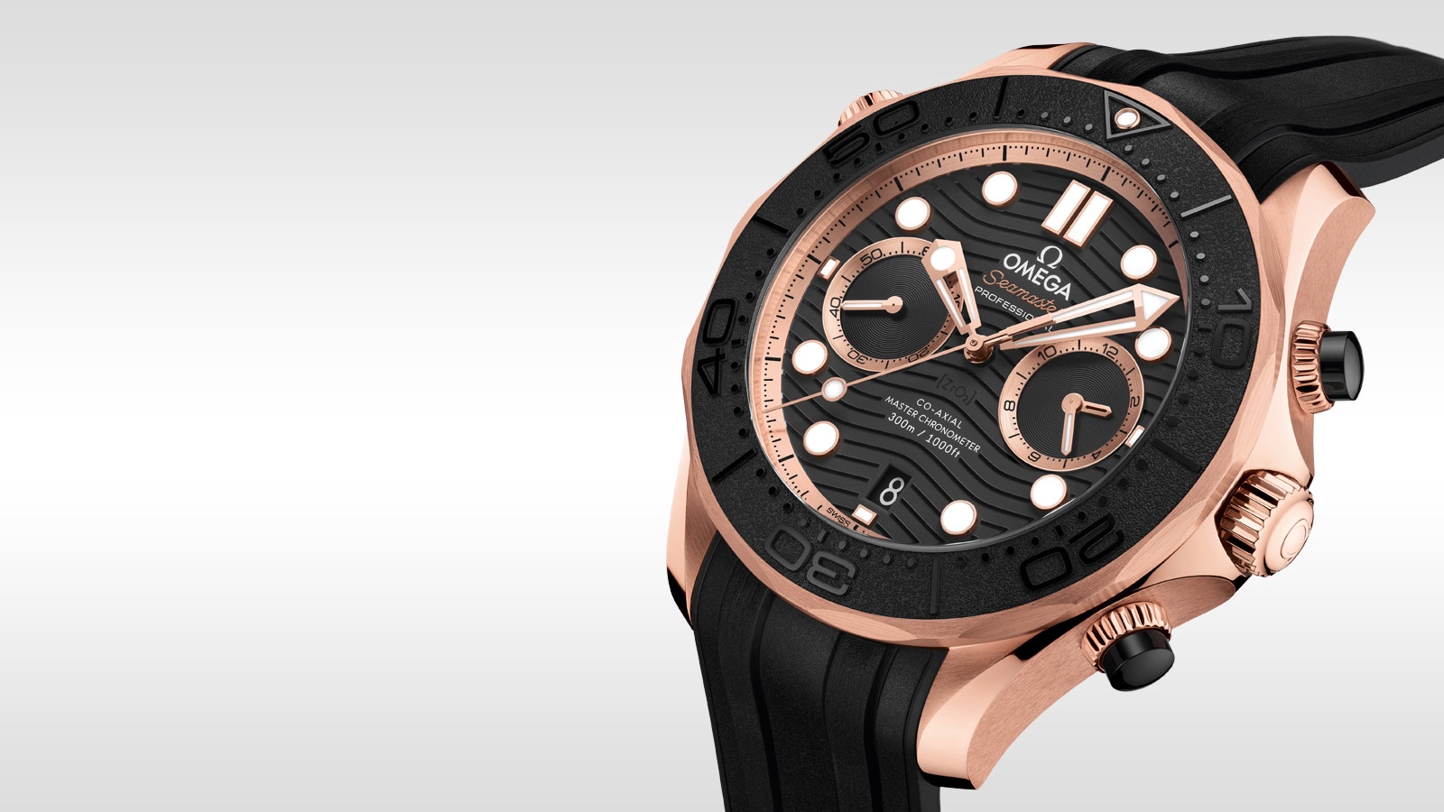 Seamaster Diver 300 M Diver 300M Omega Co‑Axial Master Chronometer Chronograph 44 mm - 210.62.44.51.01.001 - Visualizzare 2