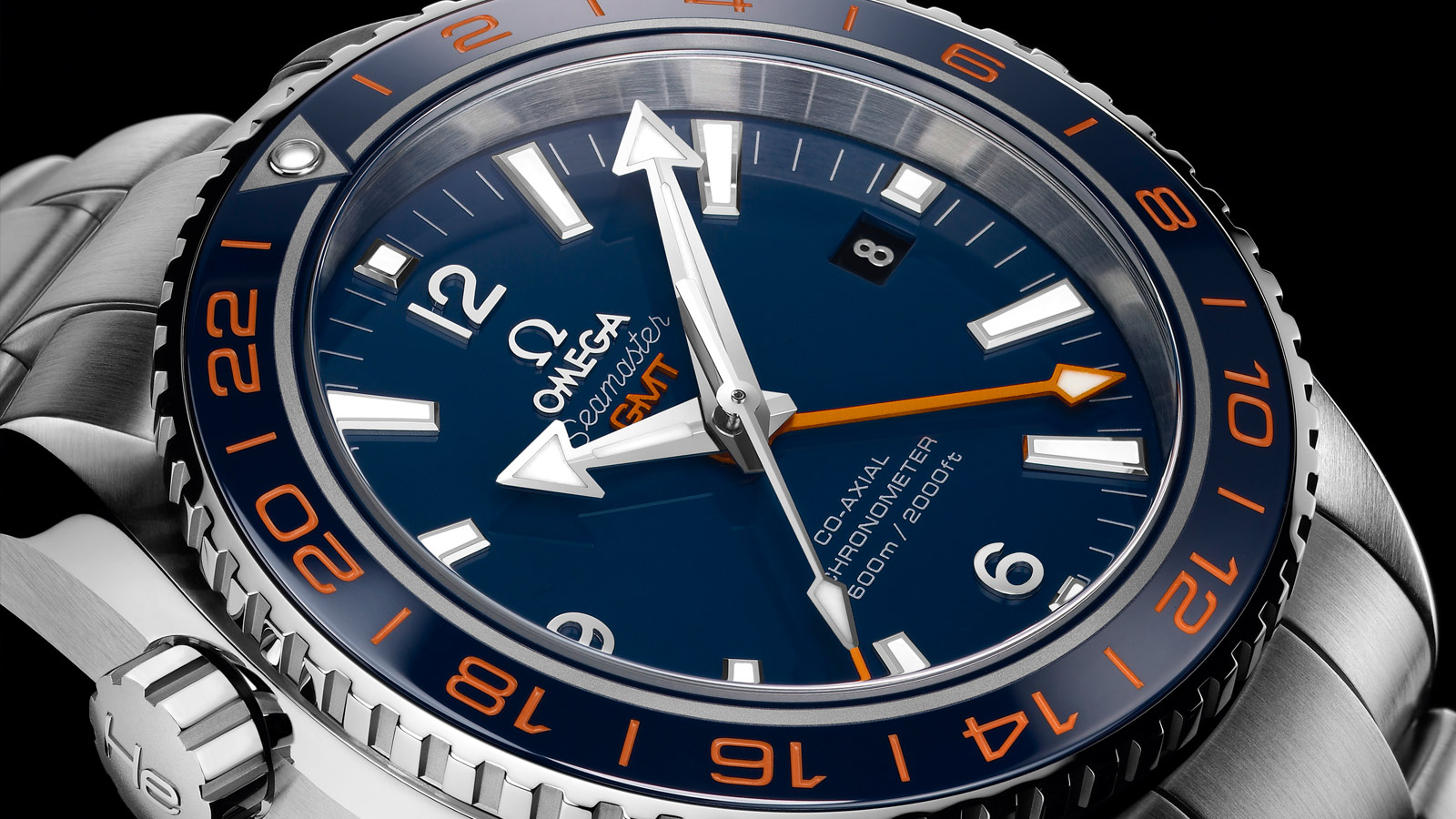 Seamaster Planet Ocean 600M Planet Ocean 600M Omega Co‑axial GMT 43.5 mm - 232.30.44.22.03.001 - View 1