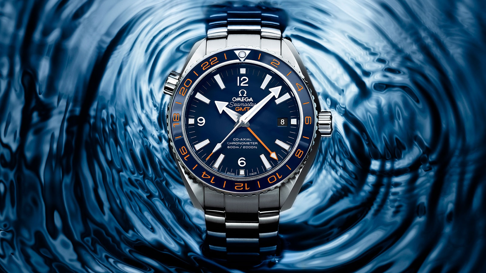 Seamaster Planet Ocean 600M Planet Ocean 600M Omega Co‑axial GMT 43.5 mm Watch - 232.30.44.22.03.001