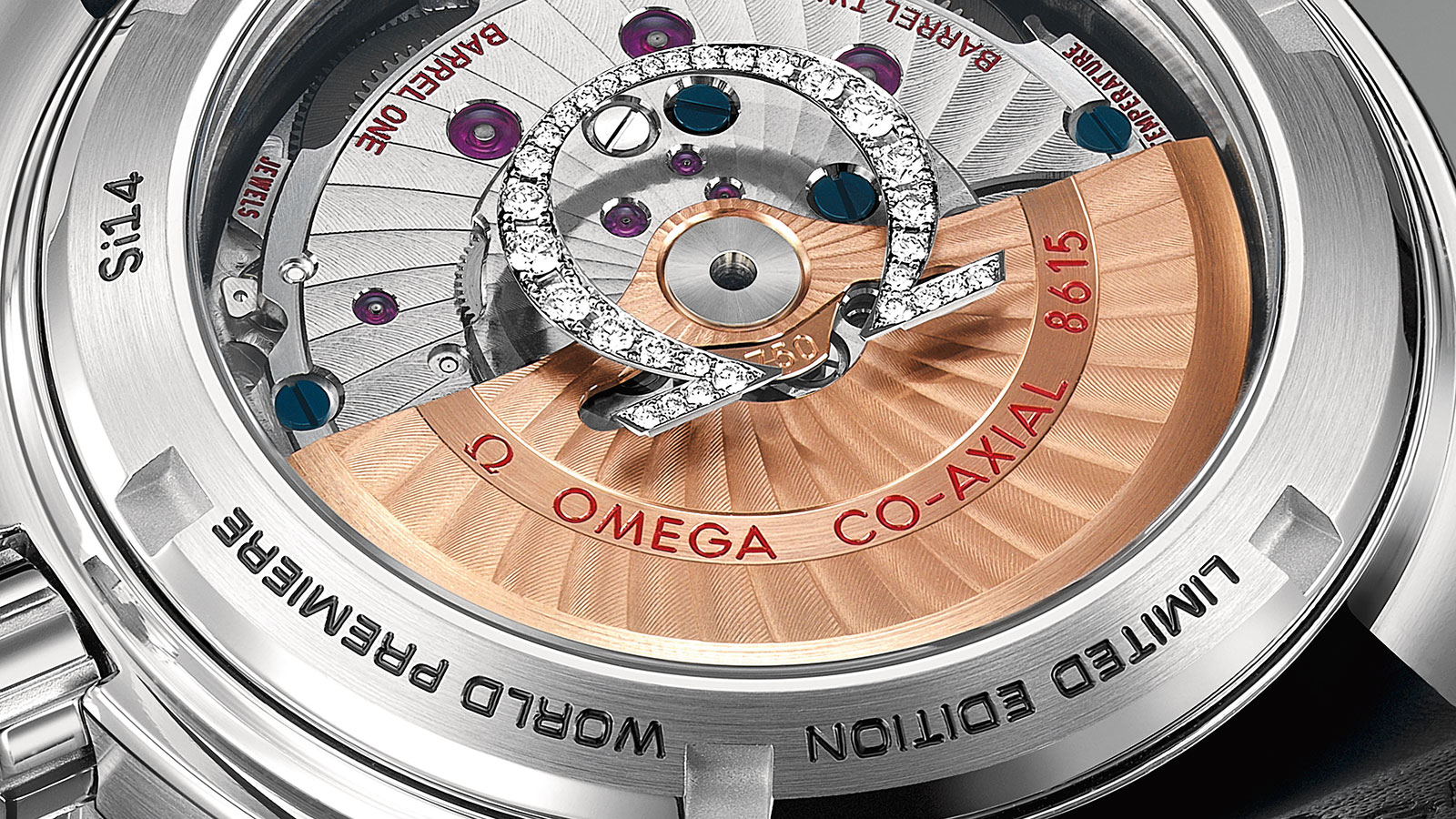 Seamaster Planet Ocean 600M Planet Ocean 600M Omega Co‑AxialGMT 43,5mm Relógio - 232.98.44.22.01.001