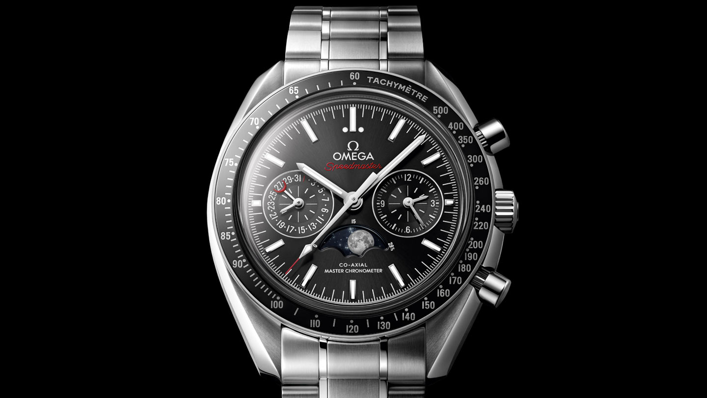 Speedmaster Moonwatch Moonwatch Omega Co‑Axial Master Chronometer Chronographe Phases de lune 44,25 mm - 304.30.44.52.01.001 - Afficher 1