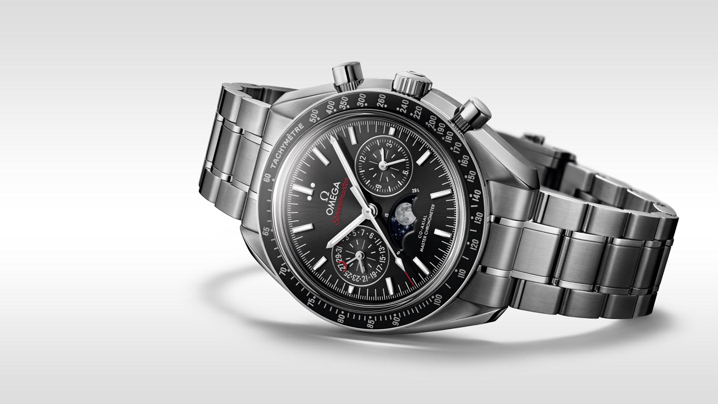 Speedmaster Moonwatch Moonwatch Omega Co‑Axial Master Chronometer Chronographe Phases de lune 44,25 mm - 304.30.44.52.01.001 - Afficher 2