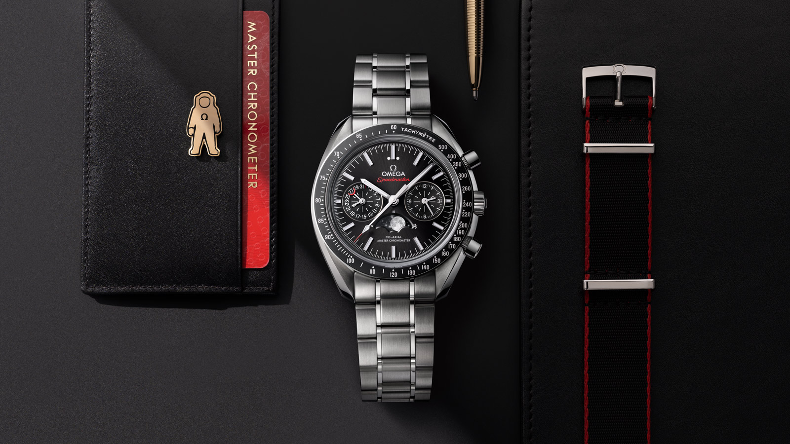 Speedmaster Moonwatch Moonwatch Omega Co‑Axial Master Chronometer Moonphase Chronograph 44.25 mm Watch - 304.30.44.52.01.001