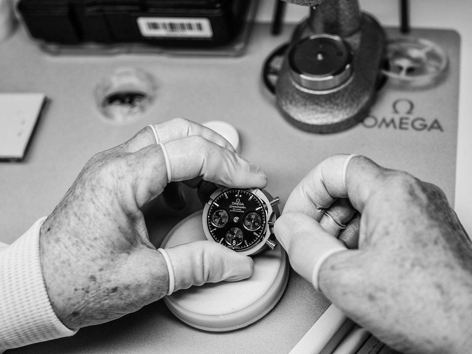 Man adjusting a watch