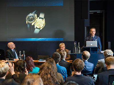 The President and CEO of OMEGA spoke on stage during the starmus festival