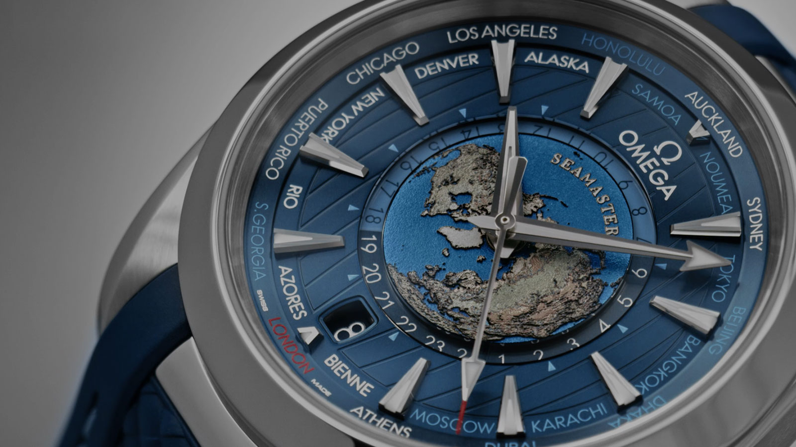 Seamaster Worldtimer Watch 220.12.43.22.03.001 - Video - 70676