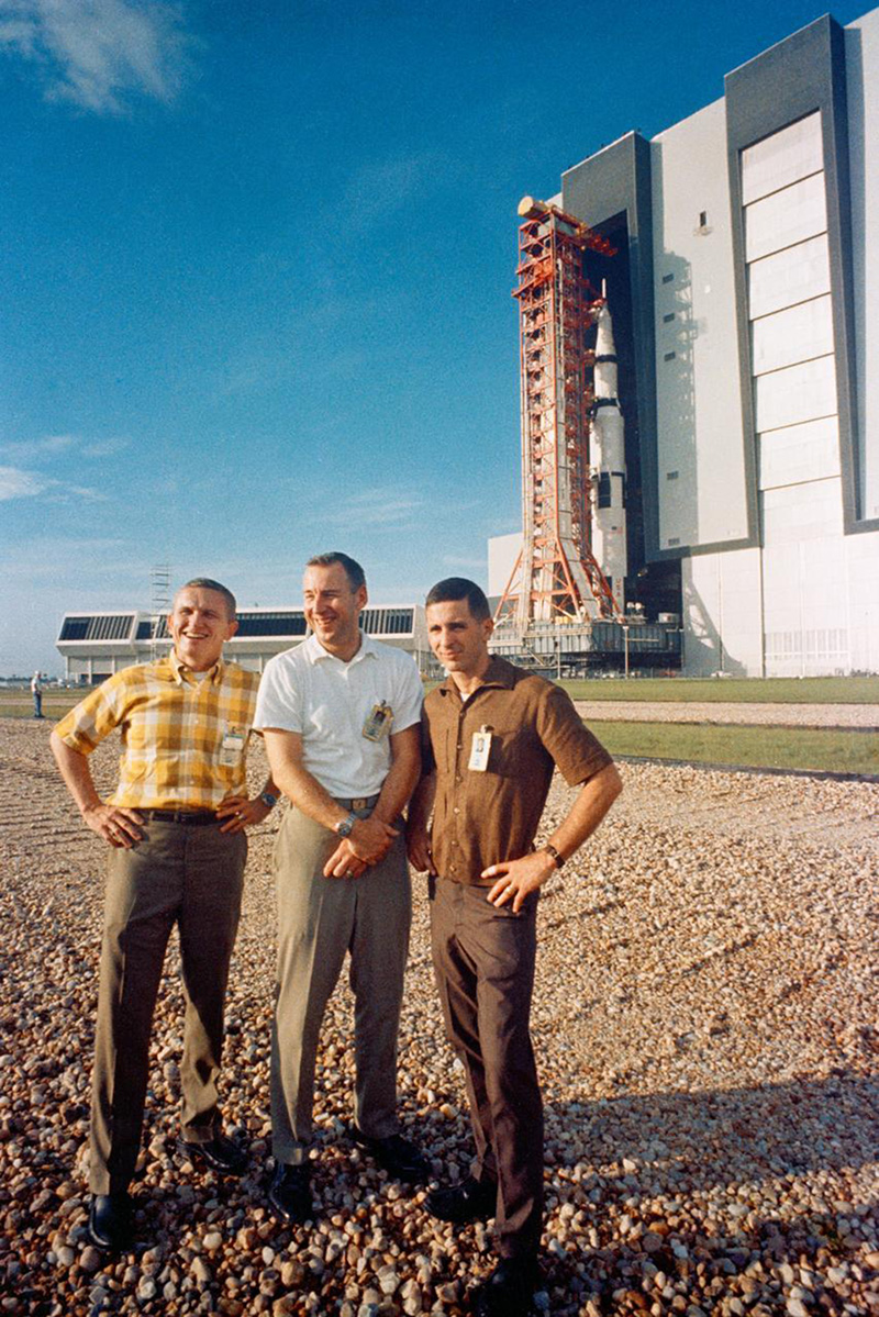 Astronauts Frank Borman, James A. Lovell Jr. and William A. Anders
