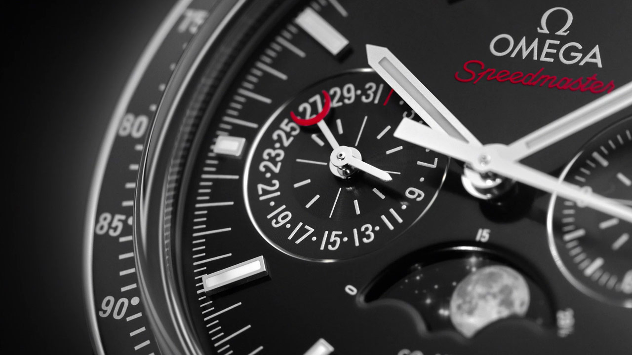 Speedmaster Moonwatch OMEGA Co-Axial Master Chronometer Moonphase Chronograph 44,25 mm - 304.30.44.52.01.001 - Video - 76892
