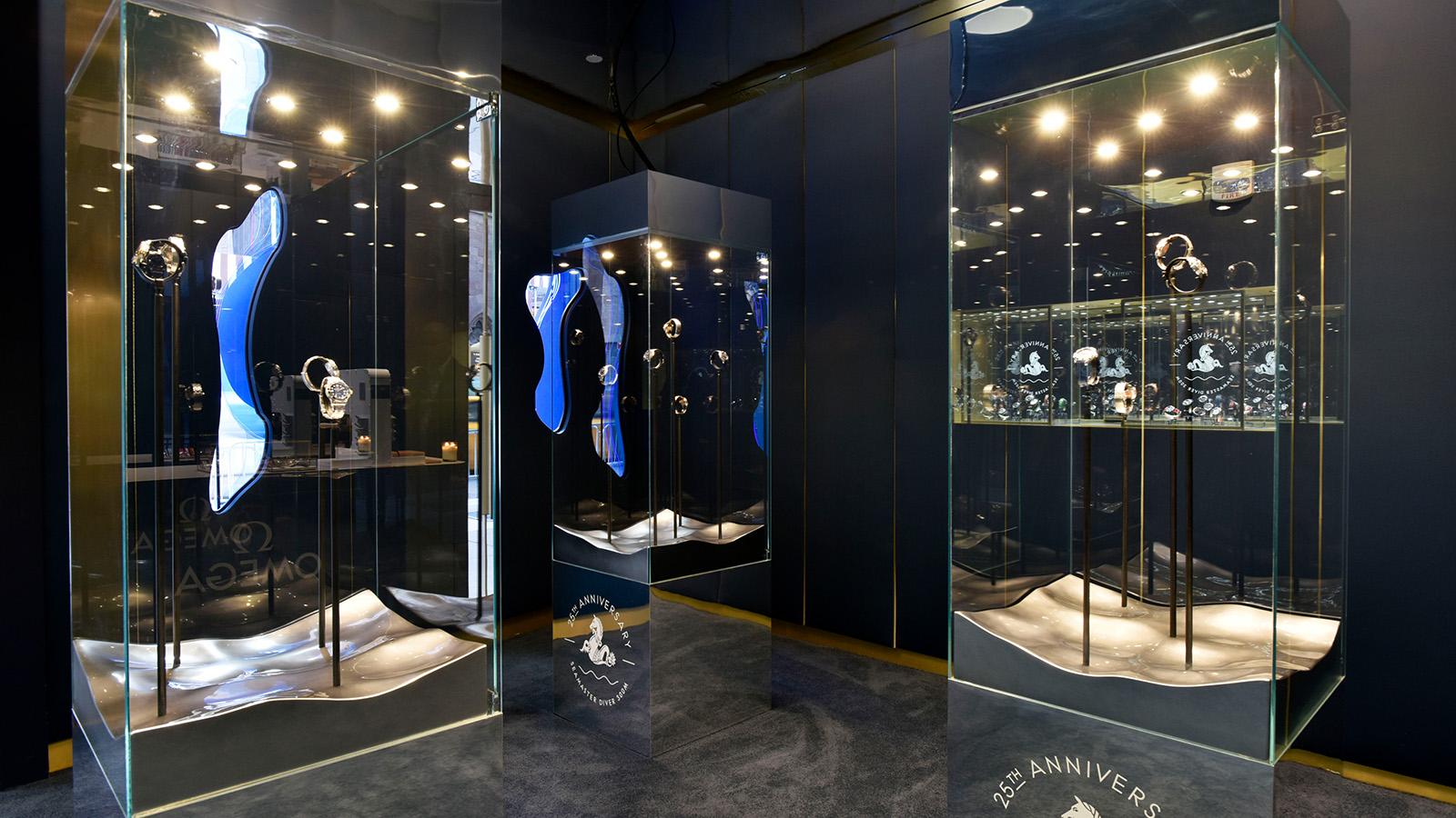 Inside the Seamaster shop of OMEGA in  New York