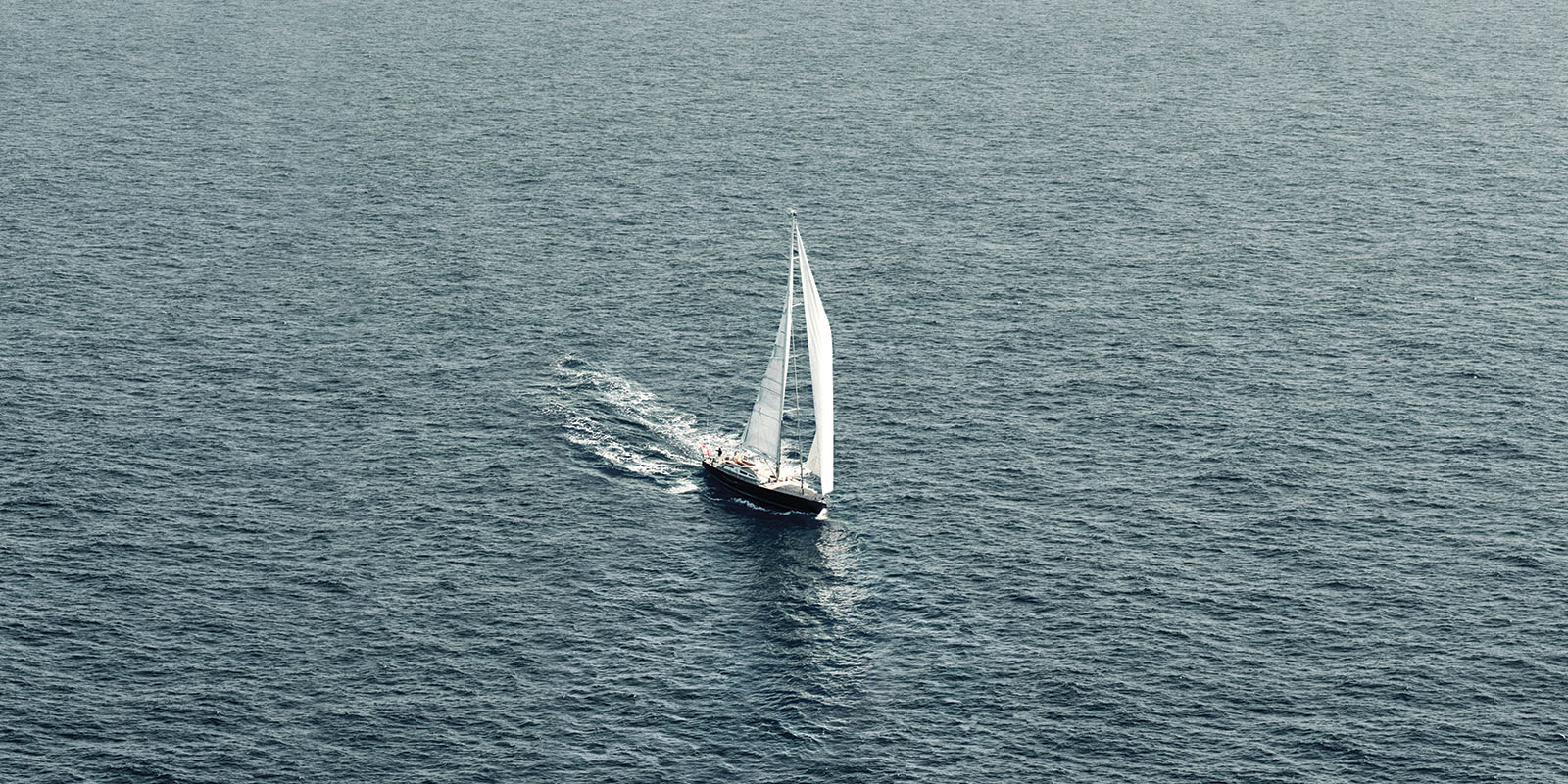 Luxury sailing boat on the ocean
