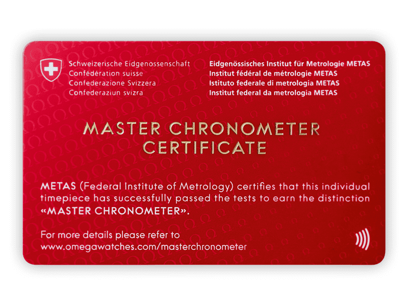 The Official Master Chronometer certification obtained by the watches of the Constellation Petite Seconde collection