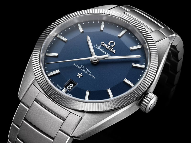 Stainless Steel Globemaster watch with its fluted bezel