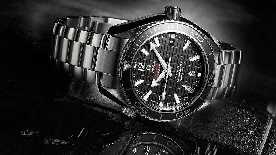 Black and grey Seamaster professional watch dedicated to 007