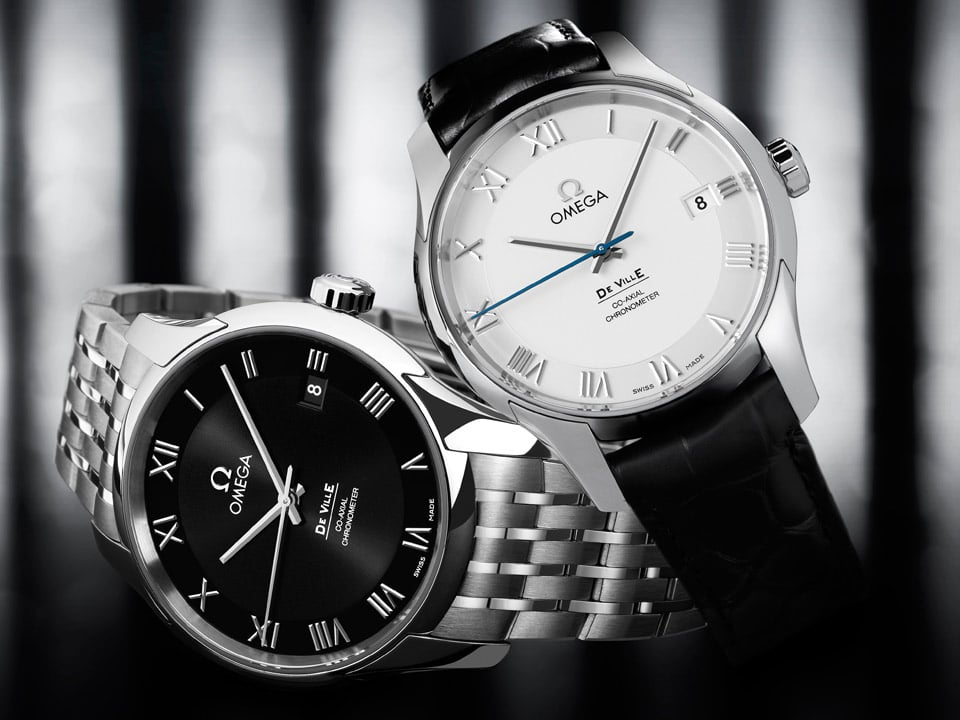 Two De Ville Co-Axial classic watches