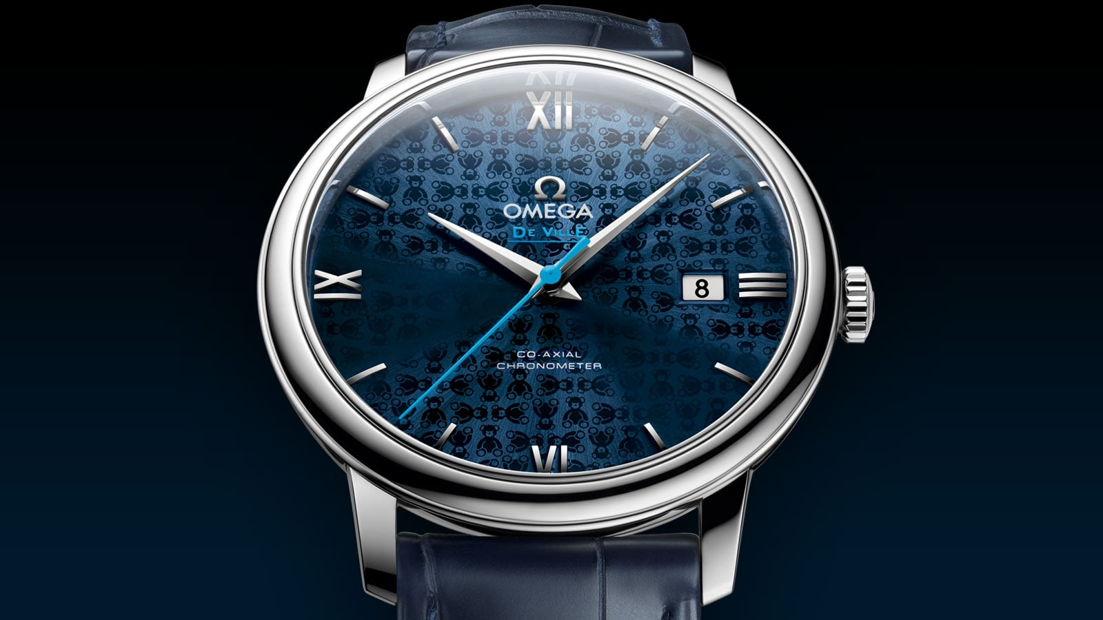 Elegant Orbis watch with a stainless steel case and iconic dark blue dial