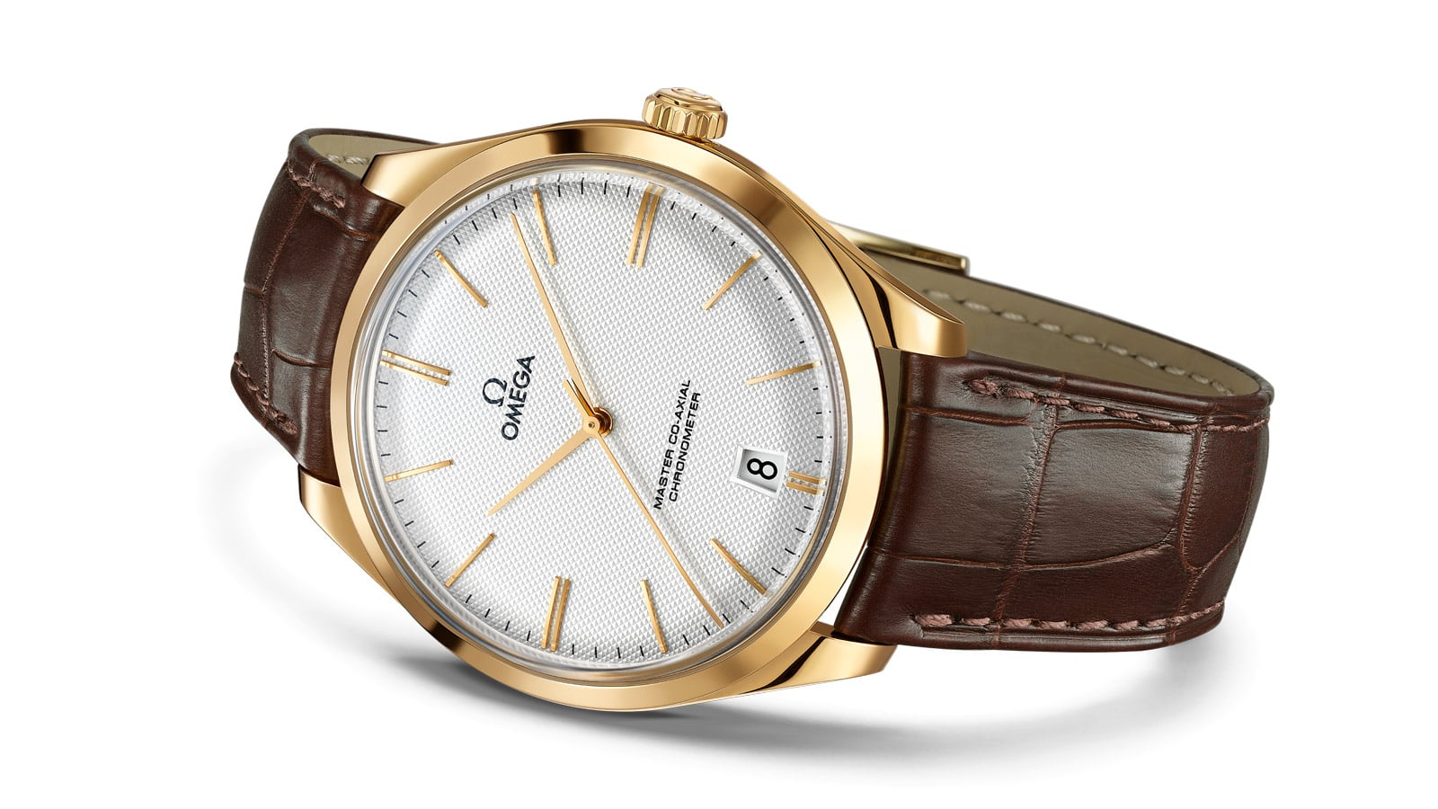 Classic De Ville Tresor 40mm with a brown leather strap and yellow gold case