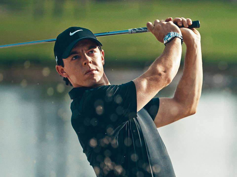 Rory MCilroy swinging