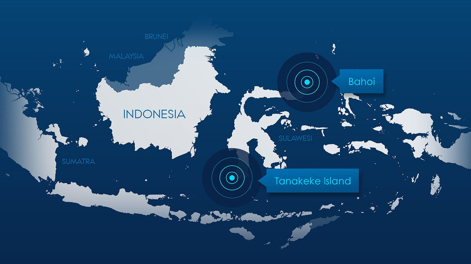 Map representing Indonesia and near islands