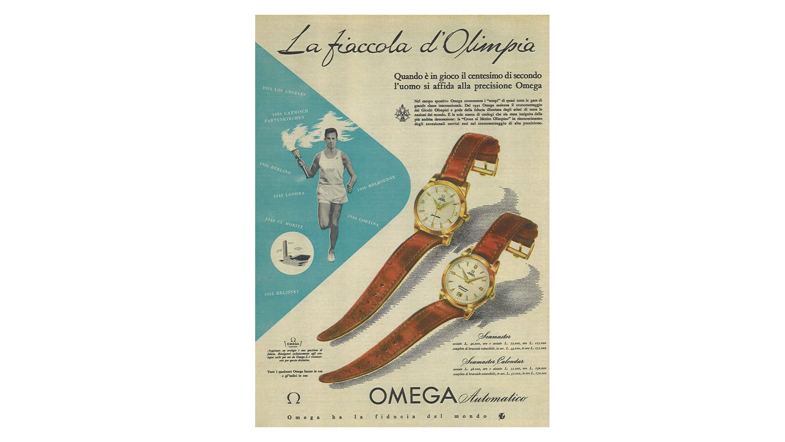 Olympic Games : a race proudly won by OMEGA - Slide 5 - 411