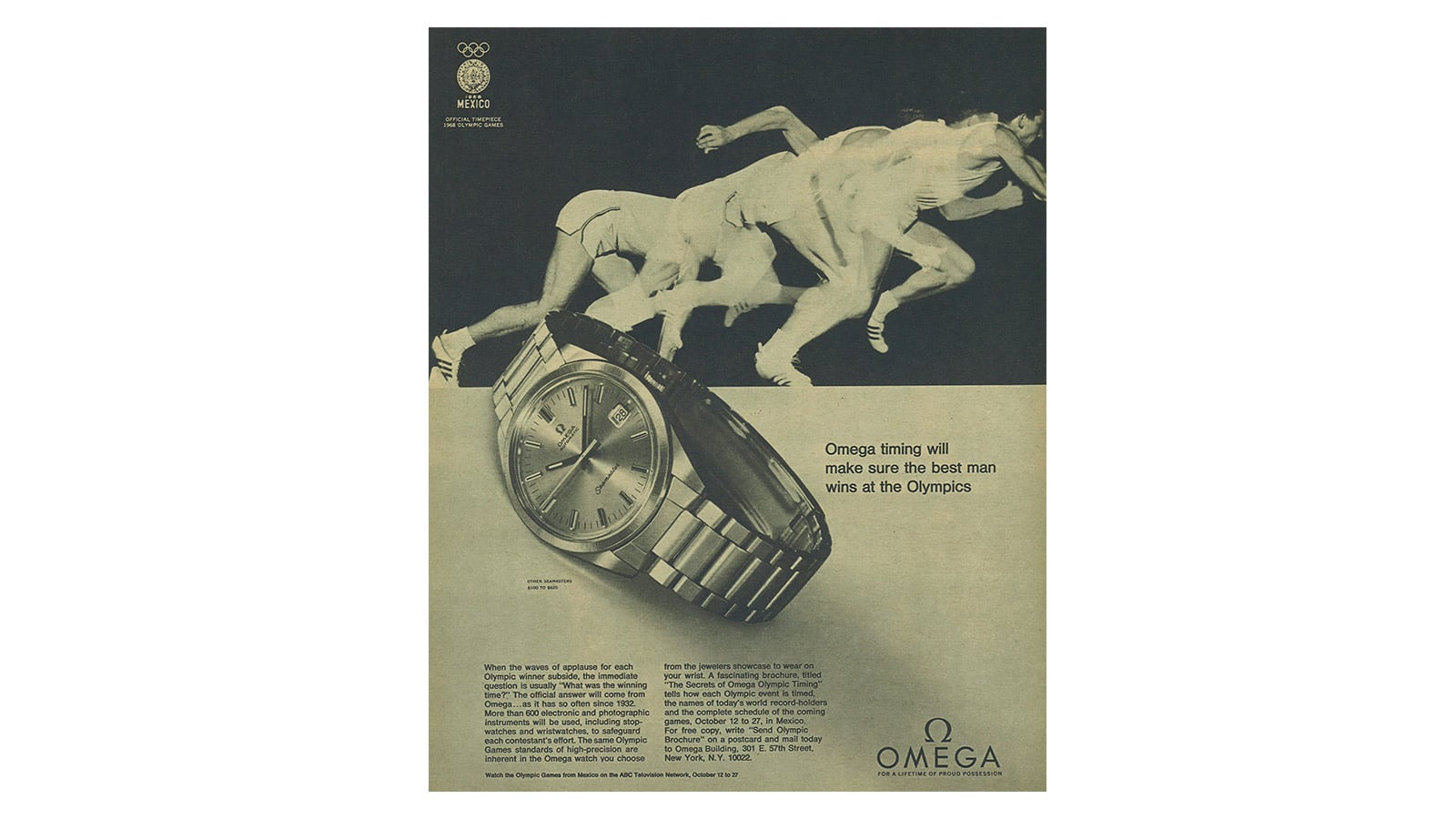 Olympic Games : a race proudly won by OMEGA - Slide 6 - 412
