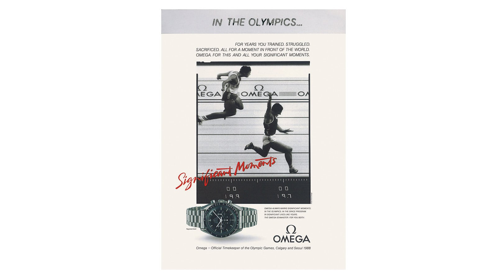 Olympic Games : a race proudly won by OMEGA - Slide 7 - 413