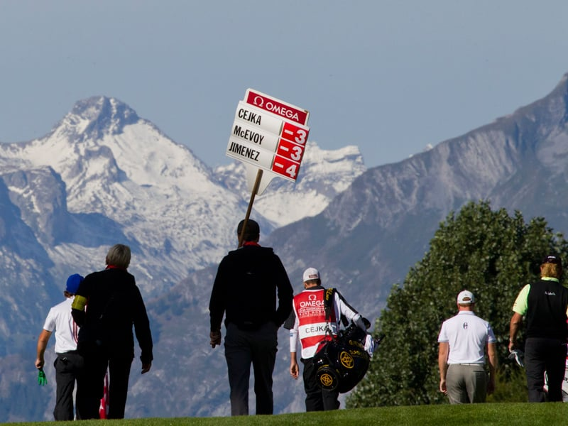 OMEGA European Masters in Crans-Montana with pannel of results