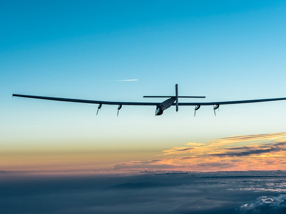 Solar Impulse in the sky