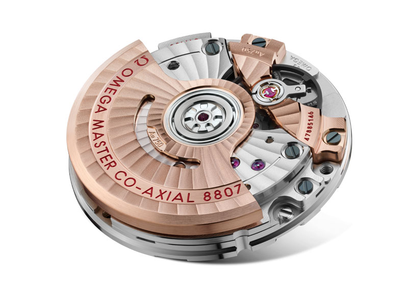 Closeup of the calibre that powers the Seamaster Aqua Terra Jewellery watches