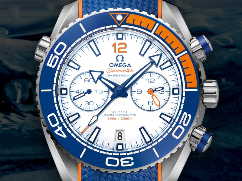 """Michael Phelps"" limited edition of the Planet Ocean Seamaster collection with blue bracelet"