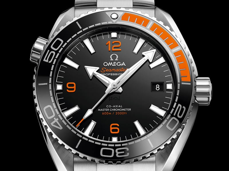 Watch Seamaster Planet Ocean 600 M Co-Axial Master Chronometer 43.5 MM with orange and black bezel