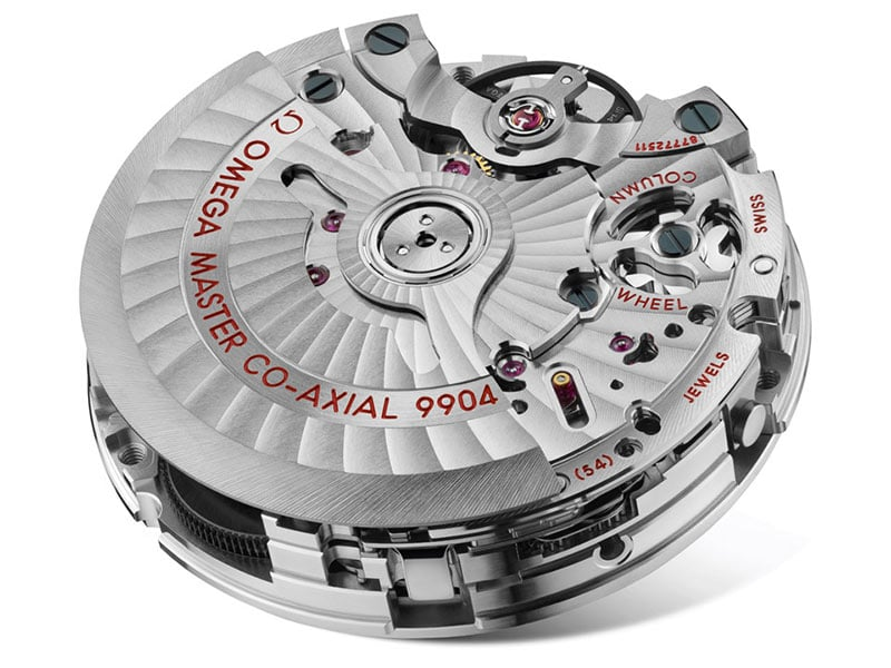 Omega master co-axial 9904 watch movement