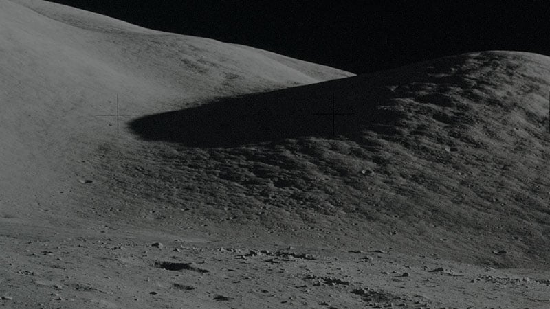 Photograph of the moon landscape