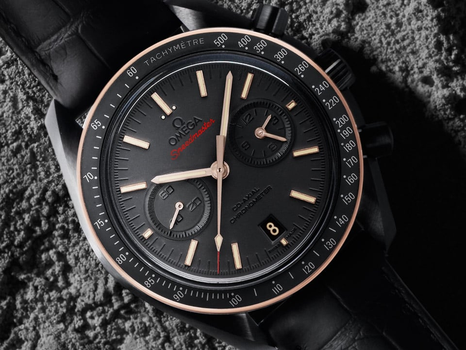 Sedna black Dark Side of the Moon watch by Omega