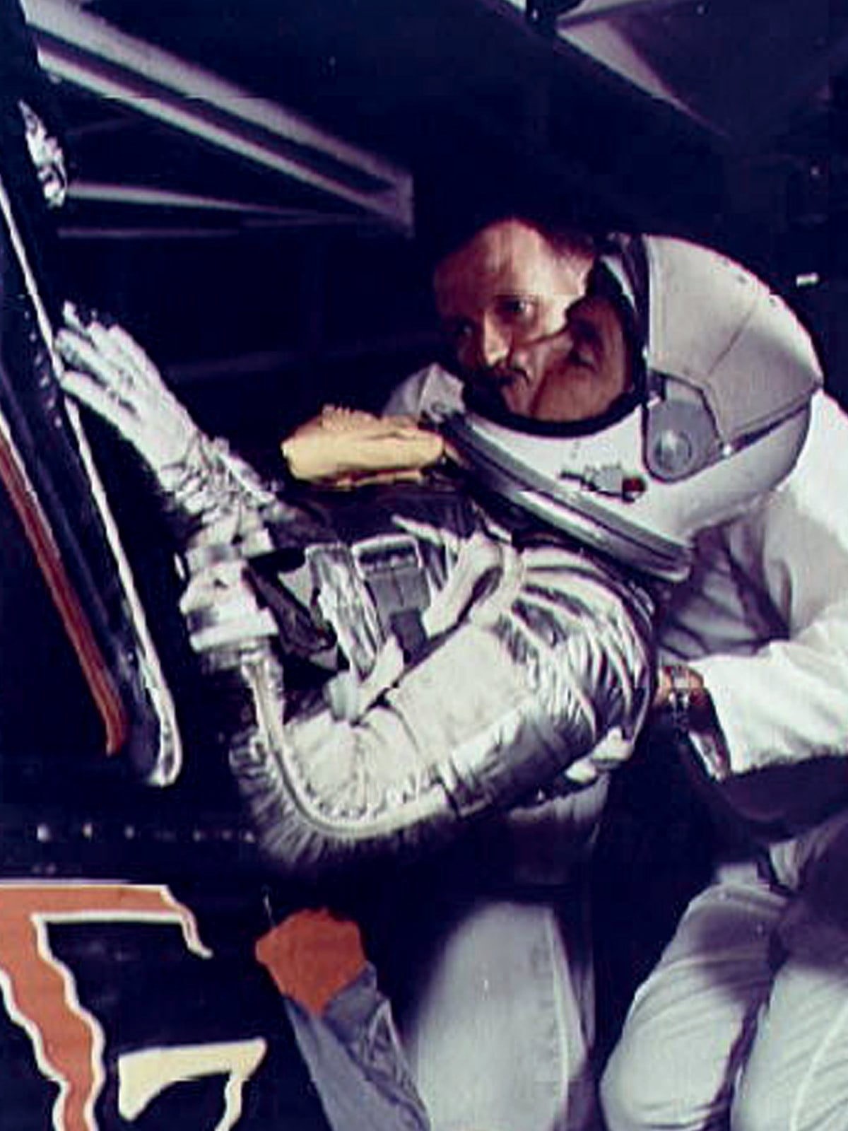 Astronaut Wally Schirra in the mercury mission in 1962