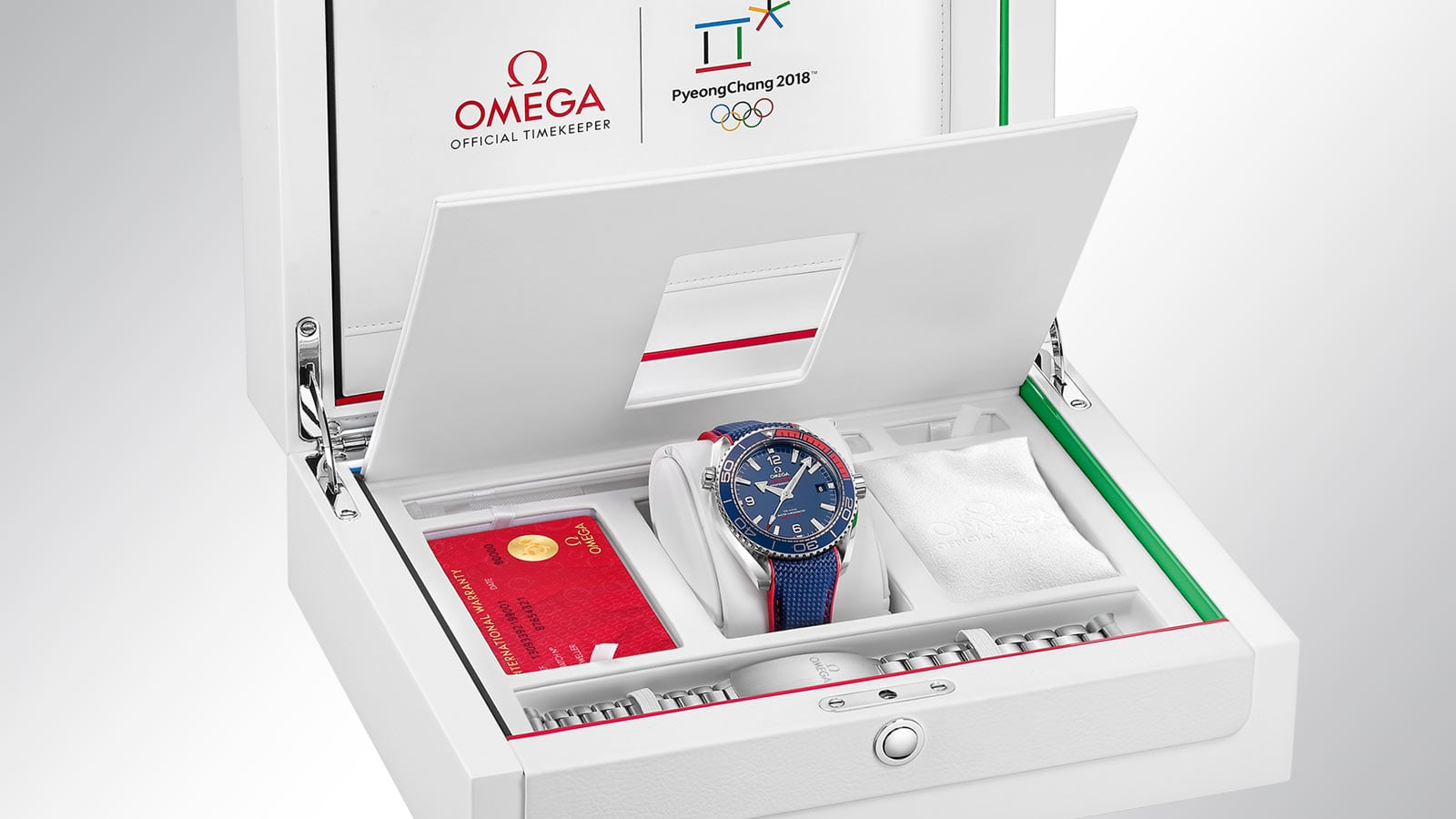 """Pyeongchang 2018"" Limited Edition watch in its white presentation box"