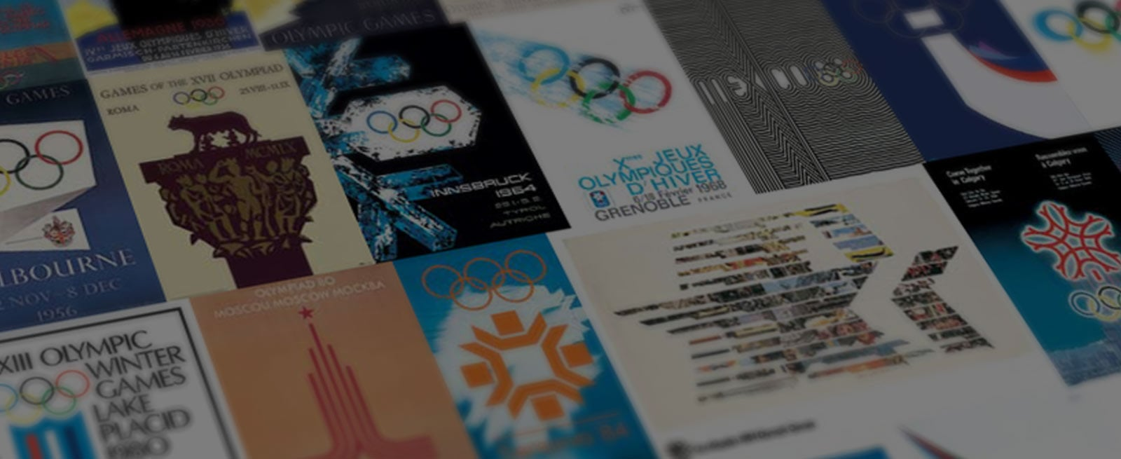 Background image representing various olympic games flyers